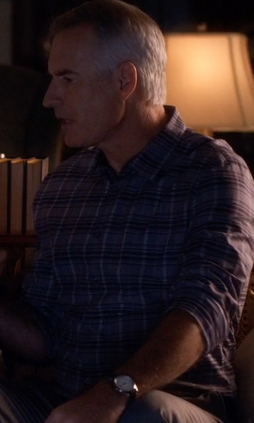 Jim Abele with Citizen Leather Strap Watch in Pretty Little Liars