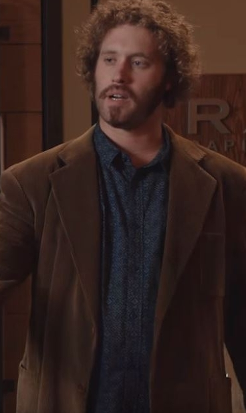 T.J. Miller with Ganesh Printed Long Sleeve Shirt in Silicon Valley