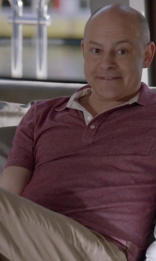Rob Corddry with Kenneth Cole Reaction Solid Chino Pants in Ballers