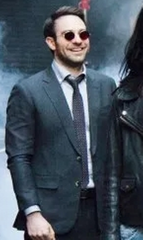Charlie Cox with Boss Dot Silk Tie in Marvel's The Defenders