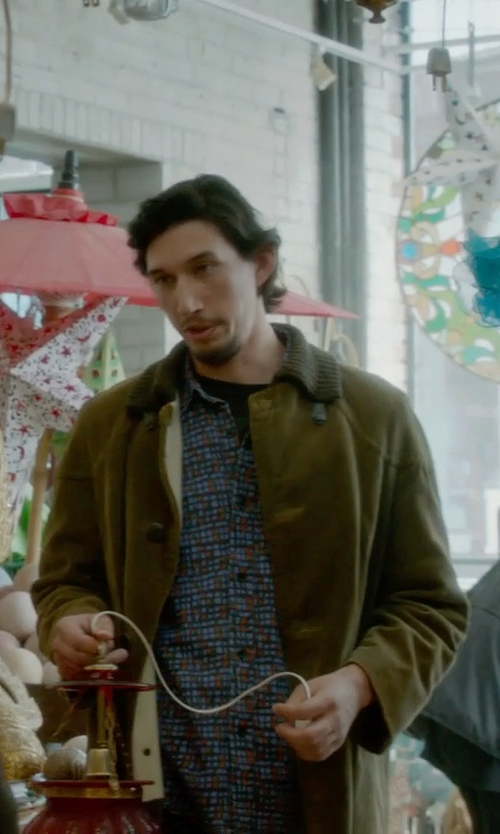 Adam Driver with Carhartt Men's Duck Traditional Coat in What If