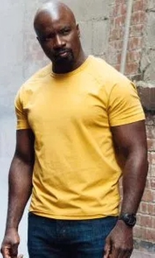 Mike Colter with Carhartt Force (Modified) Cotton Delmont Short-Sleeve T-Shirt in Marvel's The Defenders