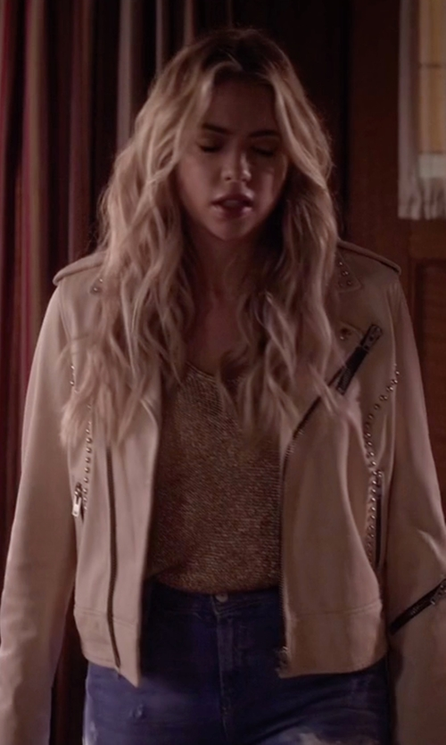 Ashley Benson with IRO Wenda Studded Leather Jacket in Pretty Little Liars