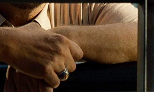 Vincent D'Onofrio with Kohl's Men's Diamond and Ruby Stone Ring in Jurassic World