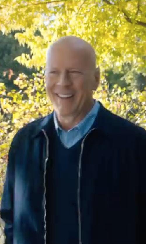 Bruce Willis with Grayers Montreaux Windbreaker Jacket in Death Wish