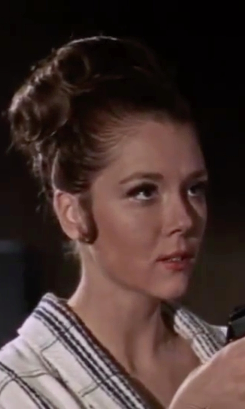 Diana Rigg with Only Hearts Frankie Kimono in On Her Majesty's Secret Service