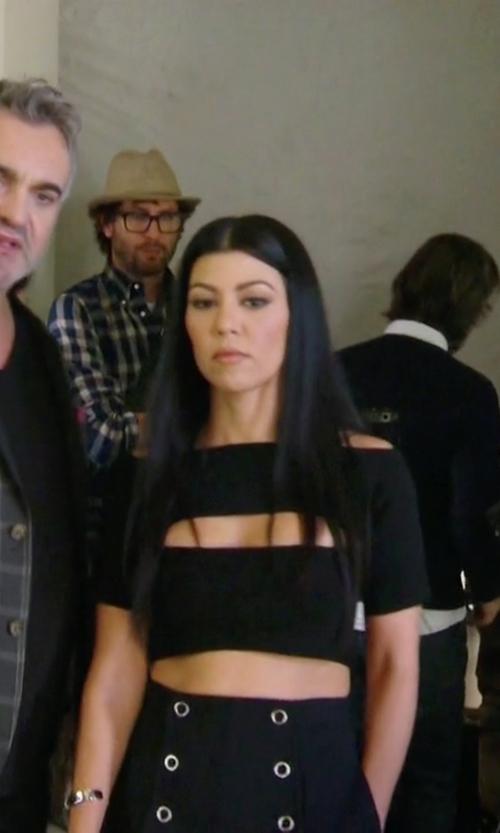 Kourtney Kardashian with Missguided Peekaboo Crop Top in Keeping Up With The Kardashians