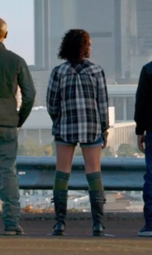 Nathalie Emmanuel with Tod's Mid-Calf Length Boots in Furious 7