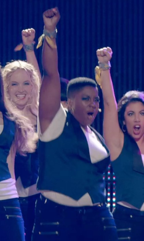 Ester Dean with Antonio Melani Vesra Suiting Vest in Pitch Perfect 2