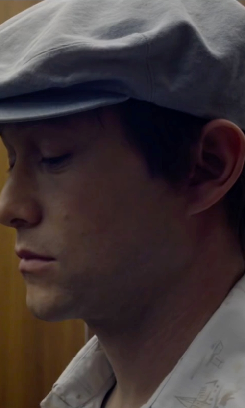 Joseph Gordon-Levitt with Black Brown 1826 Cashmere Newsboy Cap in The Walk