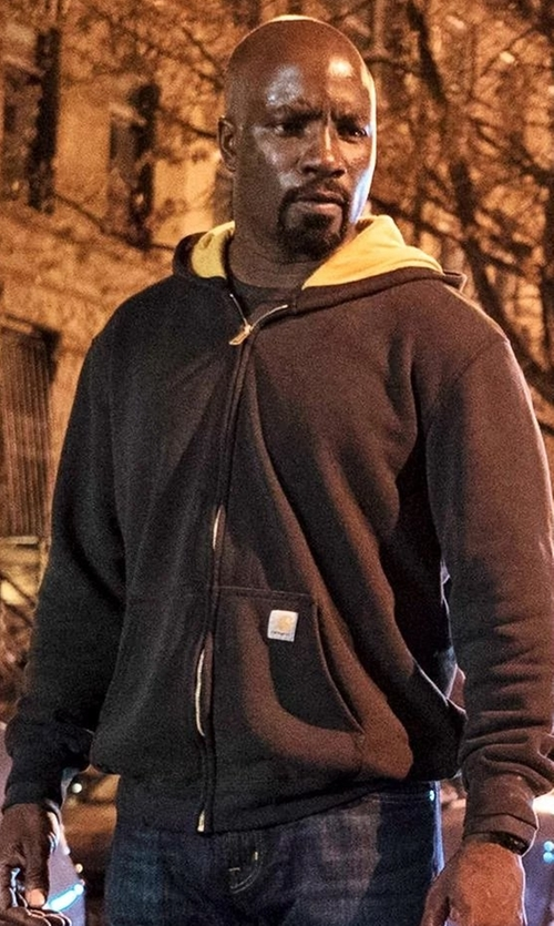Mike Colter with Carhartt Collinston Brushed Fleece Sherpa Lined Hoodie (Modified) in Marvel's Luke Cage