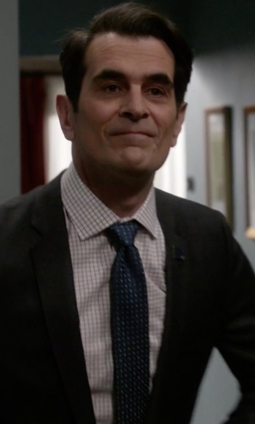Ty Burrell with Lands' End Silk Square Neat Tie in Modern Family