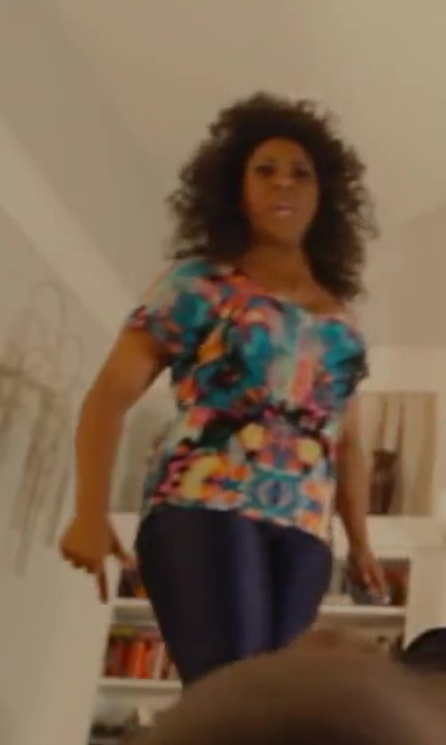 Unknown Actor with Forever21 Shimmering High-Waist Leggings in Let's Be Cops