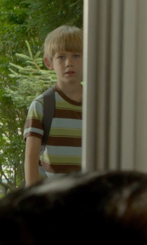 Gavin Dietz with Gap Rugby Stripe Pocket T-Shirt in Me and Earl and the Dying Girl