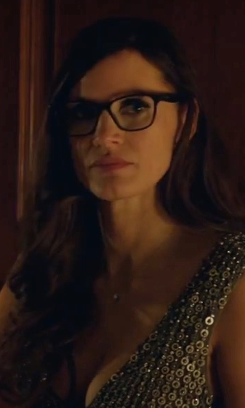 Jessica Chastain with Prada Square Plastic Eyeglasses in Molly's Game