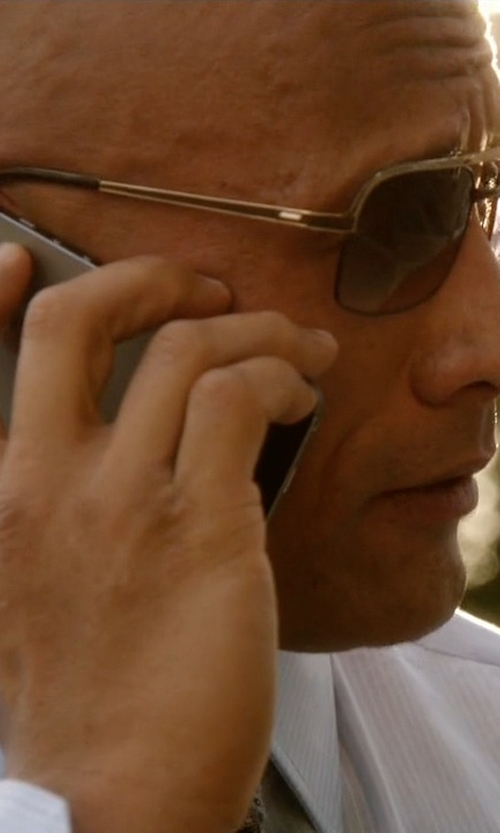 Dwayne Johnson with Gucci Mirrored Square Sunglasses in Ballers