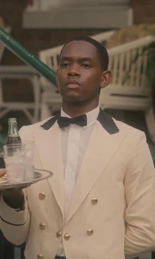 No Actor with K. Alexander Formal Black Satin Banded Men's Bow Tie in Lee Daniels' The Butler