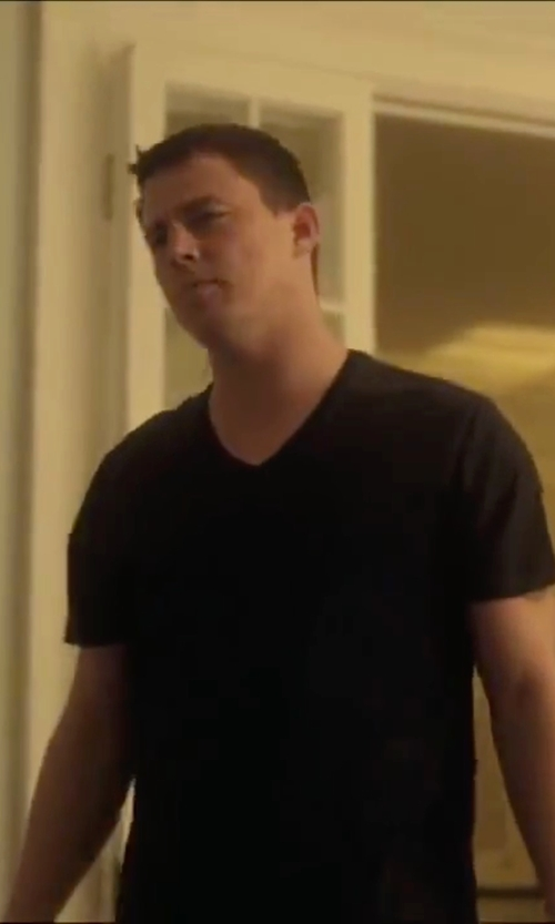 Channing Tatum with Theory Bedros Stay T-Shirt in Side Effects