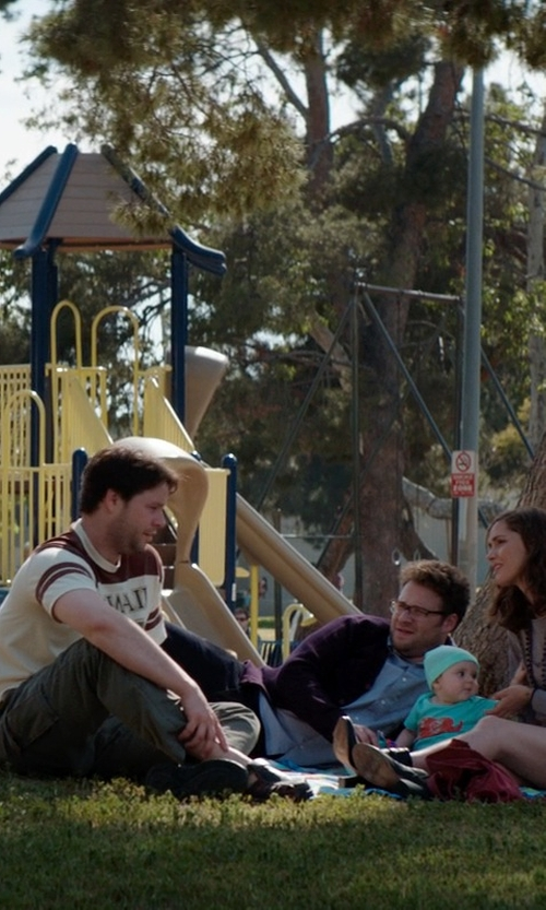 Ike Barinholtz with Original Paperbacks Huntington Slim Fit Cargo Pants in Neighbors