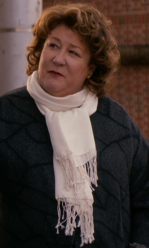 Margo Martindale with Eileen Fisher Cozy Fringe Hem Alpaca Scarf in The Good Wife