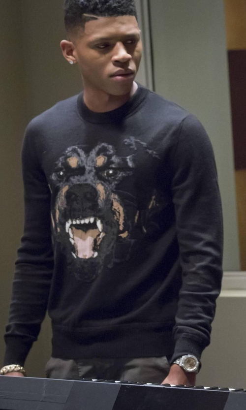 Bryshere Y. Gray with Givenchy Rottweiler Sweatshirt in Empire