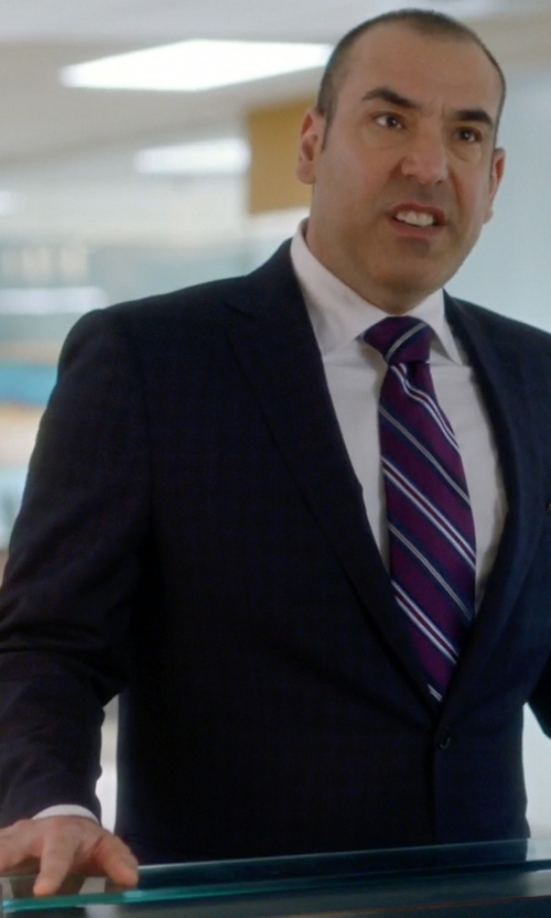 Rick Hoffman with Ermenegildo Zegna Milano Plaid Two-Piece Wool Suit in Suits