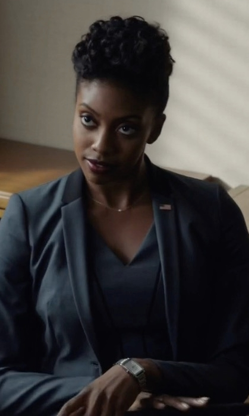 Condola Rashad with Michele Watches Stainless Steel Chronograph Bracelet Watch in Billions