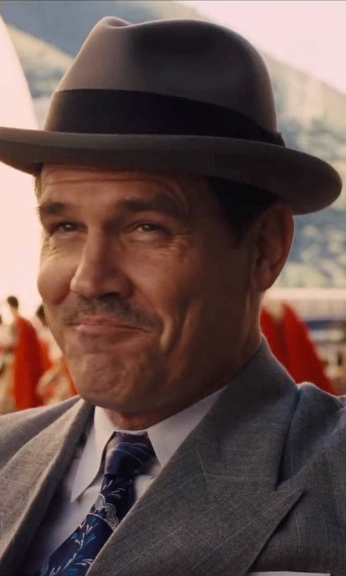 Josh Brolin with Ted Baker Floral Skinny Tie in Hail, Caesar!