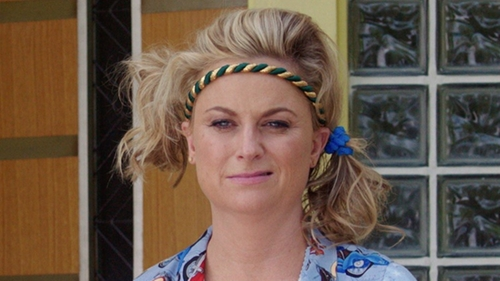 Amy Poehler with L. Erickson Solid Stretch Ponytail Holder Pack in Sisters