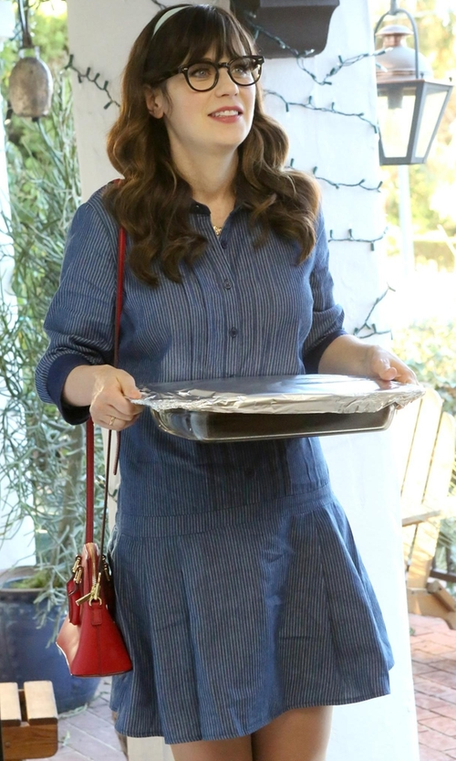 Zooey Deschanel with ModCloth  Delighted Daily Dress in New Girl