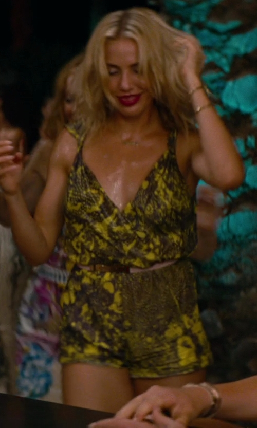 Cameron Diaz with Zero + Maria Cornejo Short Artem Jumpsuit in The Other Woman