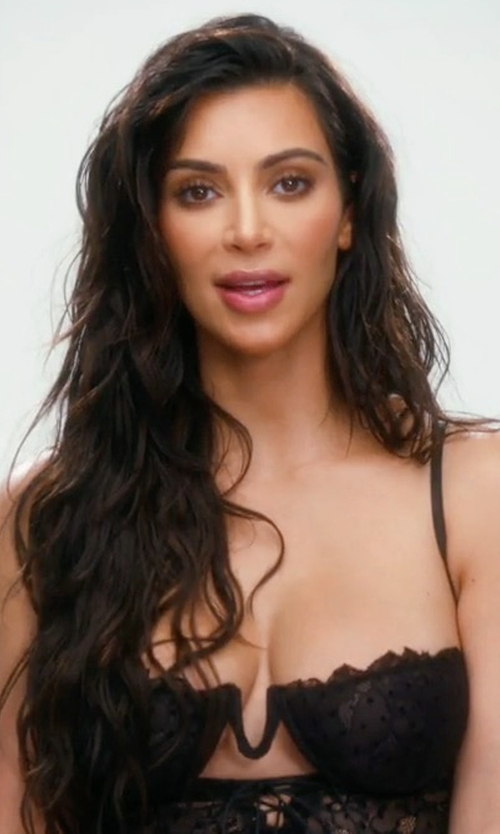 Kim Kardashian West with I.D. Sarrieri Tattoo Underwire Half-Cup Bustier in Keeping Up With The Kardashians