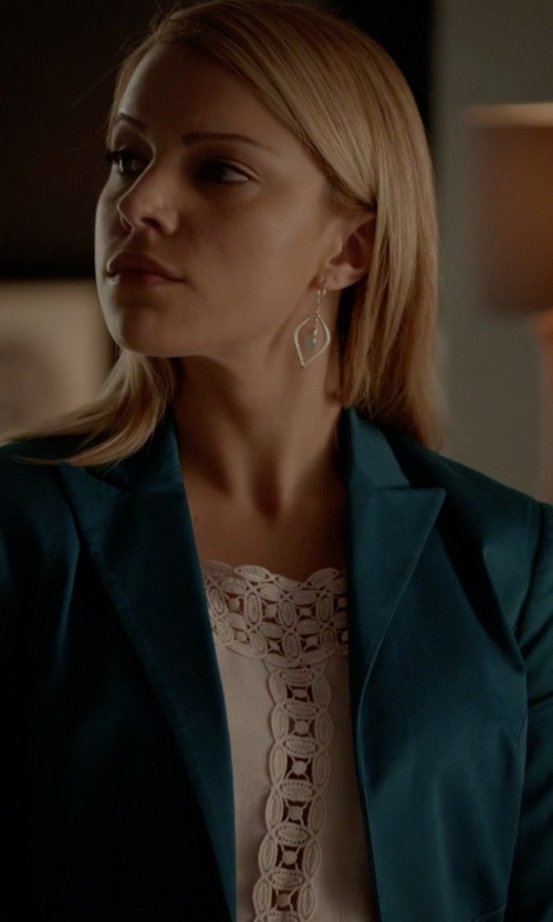 Teressa Liane with Free People Cutwork Neckline Tank Top in The Vampire Diaries