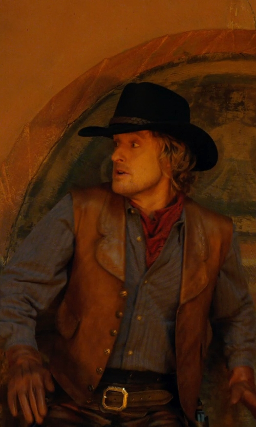 Owen Wilson with Marlene Stewart (Costume Designer) Custom Made Cowboy Costume (Jedediah) in Night at the Museum: Secret of the Tomb