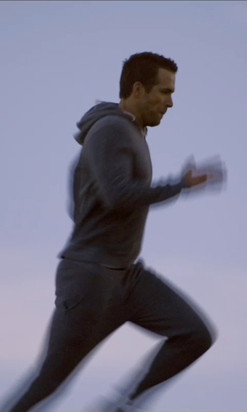 Ryan Reynolds with Remi Relief Washed Loopback Cotton-Jersey Hoodie in Self/Less