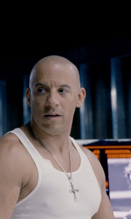 Vin Diesel with Calvin Klein Cotton Tank Top in Fast & Furious 6