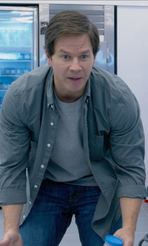 Mark Wahlberg with Volcom Everett Solid Shirt in Ted 2
