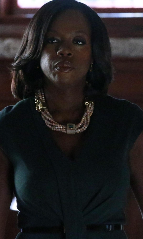 Viola Davis with Jason Wu Gathered Ponte Dress in How To Get Away With Murder