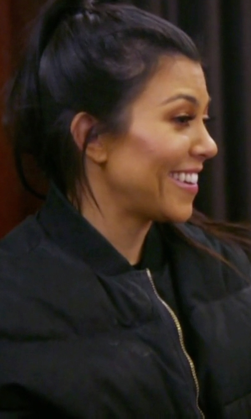 Kourtney Kardashian with Acne Studios Oversized Bomber Jacket in Keeping Up With The Kardashians
