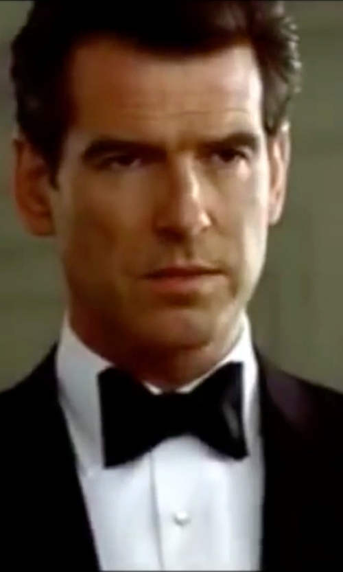 Pierce Brosnan with Burberry London Blake Silk Bow Tie in The World is Not Enough