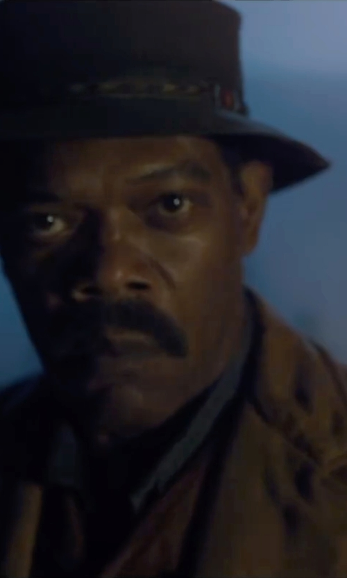 Samuel L. Jackson with Topman Selected Homme Wool Blend Camel Coat in The Legend of Tarzan