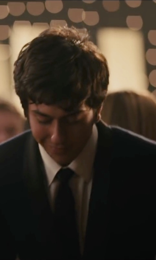 Nat Wolff with Brooks Brothers Milano Fit Spread Collar French Cuff Dress Shirt in Paper Towns