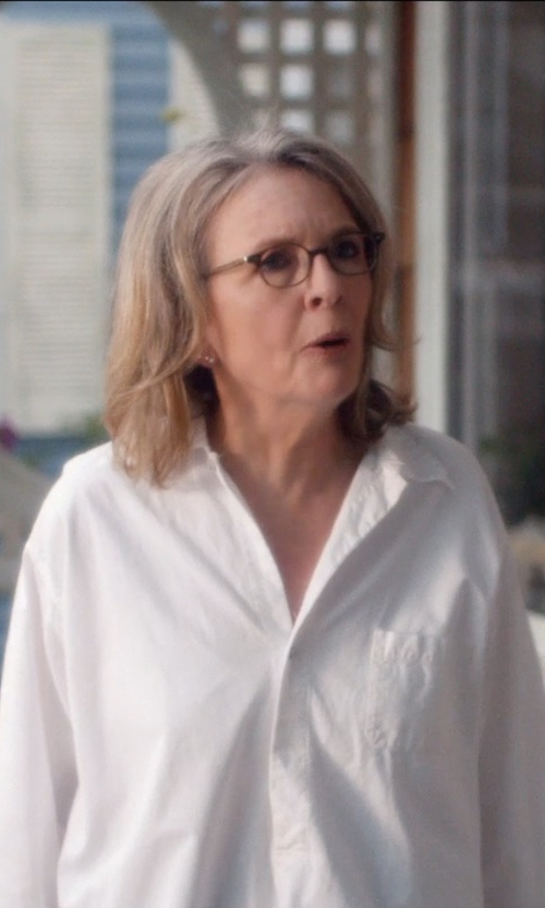 Diane Keaton with Anto Beverly Hills Custom Made Button Down Shirt in And So It Goes