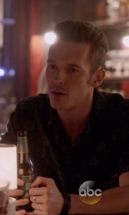 Sam Palladio with Bugatchi Floral Print Sport Shirt in Nashville