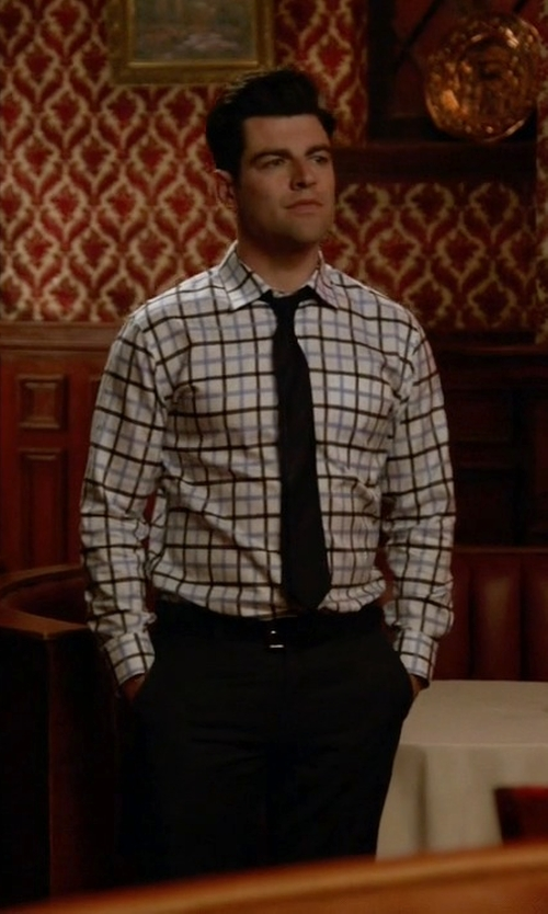 Max Greenfield with Robert Graham Charly Dress Shirt in New Girl