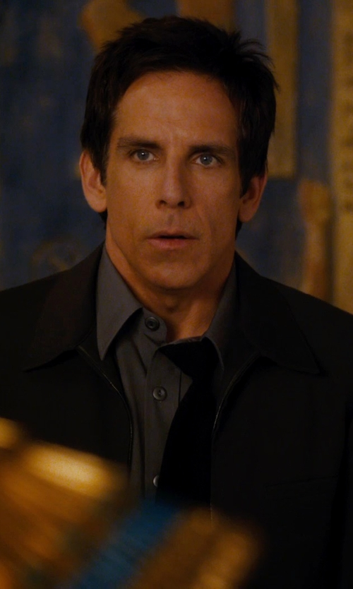 Ben Stiller with Perry Ellis Men's Broadcloth Solid Dress Shirt in Night at the Museum: Secret of the Tomb