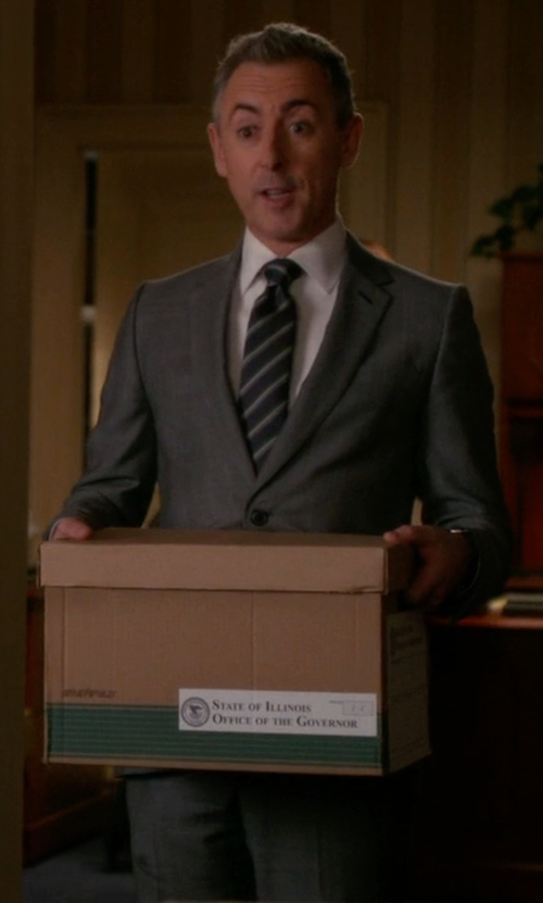 Alan Cumming with Haspel Journeyman Trim Fit Solid Wool Suit in The Good Wife