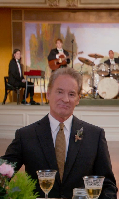 Kevin Kline with Calvin Klein Solid Wool Black Slim X Fit Suit in Ricki and the Flash