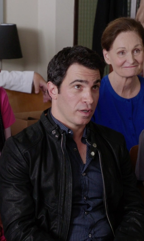 Chris Messina with Cole Haan Moto Jacket in The Mindy Project