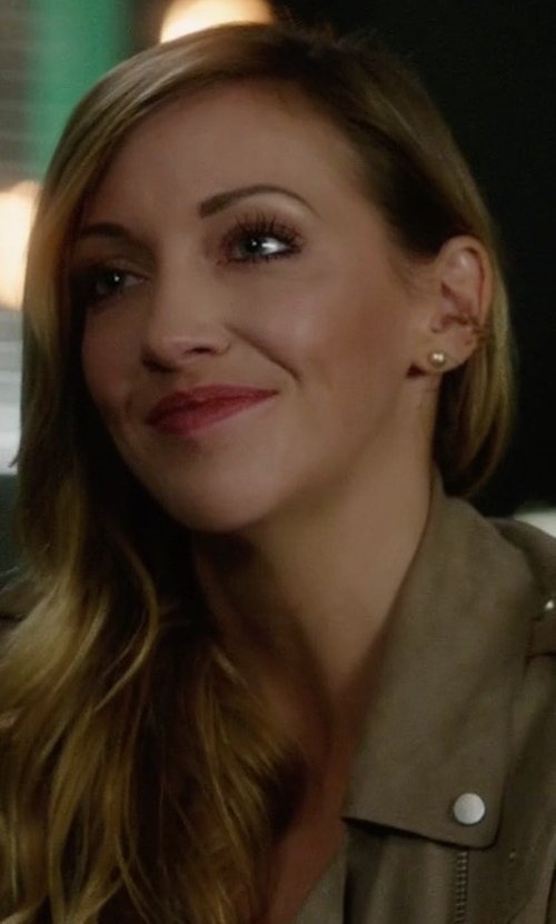 Katie Cassidy with Tada & Toy Star Cuff Earrings in Arrow